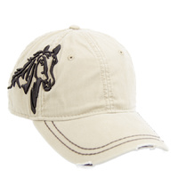 Khaki - Embroidered Horse Head (BC-113K)