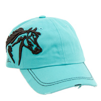 Turquoise - Embroidered Horse Head (BC-113T)