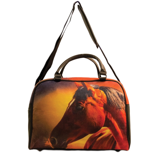 Overnight Bag - Sunset Horse Head - Felt - FB01