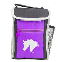 Lunch Box - Purple and Black - Horse Head Print - GG774