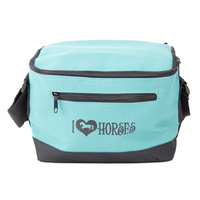 Insulated Lunch Bag - Aqua 'I Love Horses' - GG846