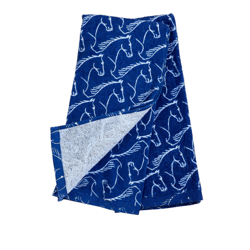 Kitchen Towel -  Blue - Horse Head Embellished - [HT-346BL]