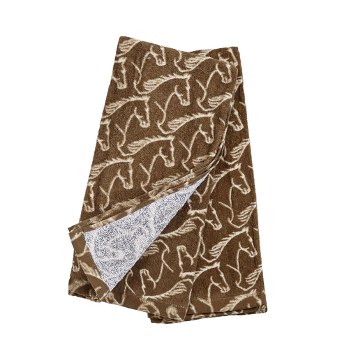Kitchen Towel -  Brown - Horse Head Embellished - [HT-346BR]