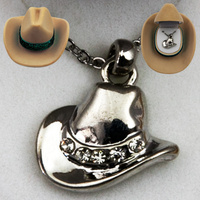 Necklace - Cowboy Hat -  JN913