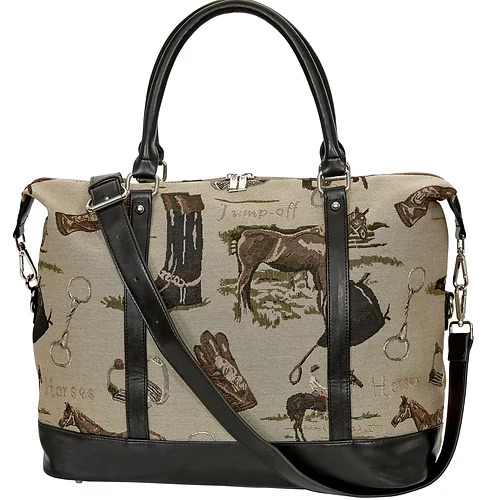 """Lila"" Equestrian Tapestry Travel Bag - [LP452]"
