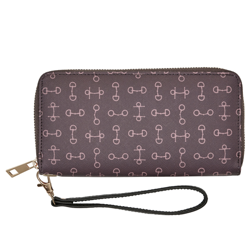 "Wallet - Brown - Faux leather - ""Lila"" Snaffle Bit Design - [LW-448BR]"