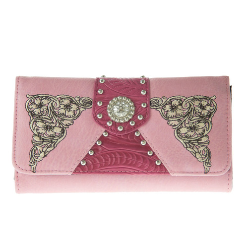 Pink Western Purse - Faux Leather - LW5903PK
