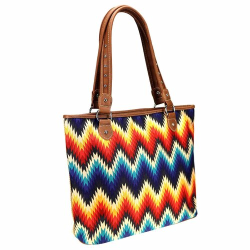 Serape Canvas Tote - Tall - Aztec Collection - [MW930-8112BR]