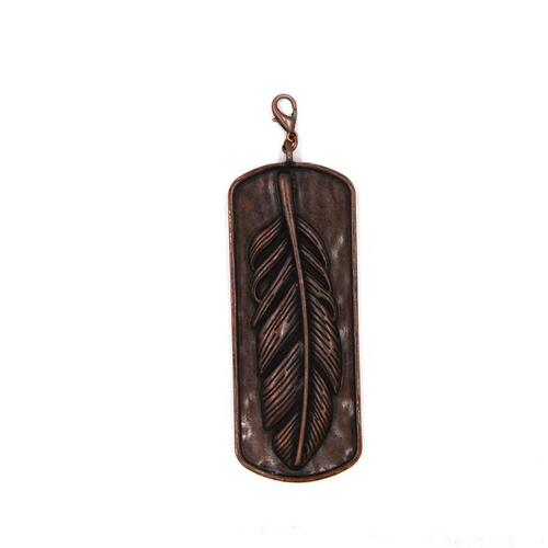 Copper Feather Pendant - PD190107-03