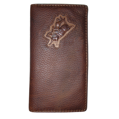 Wallet - Leather - Distressed - Bull Rider - [5017-A]