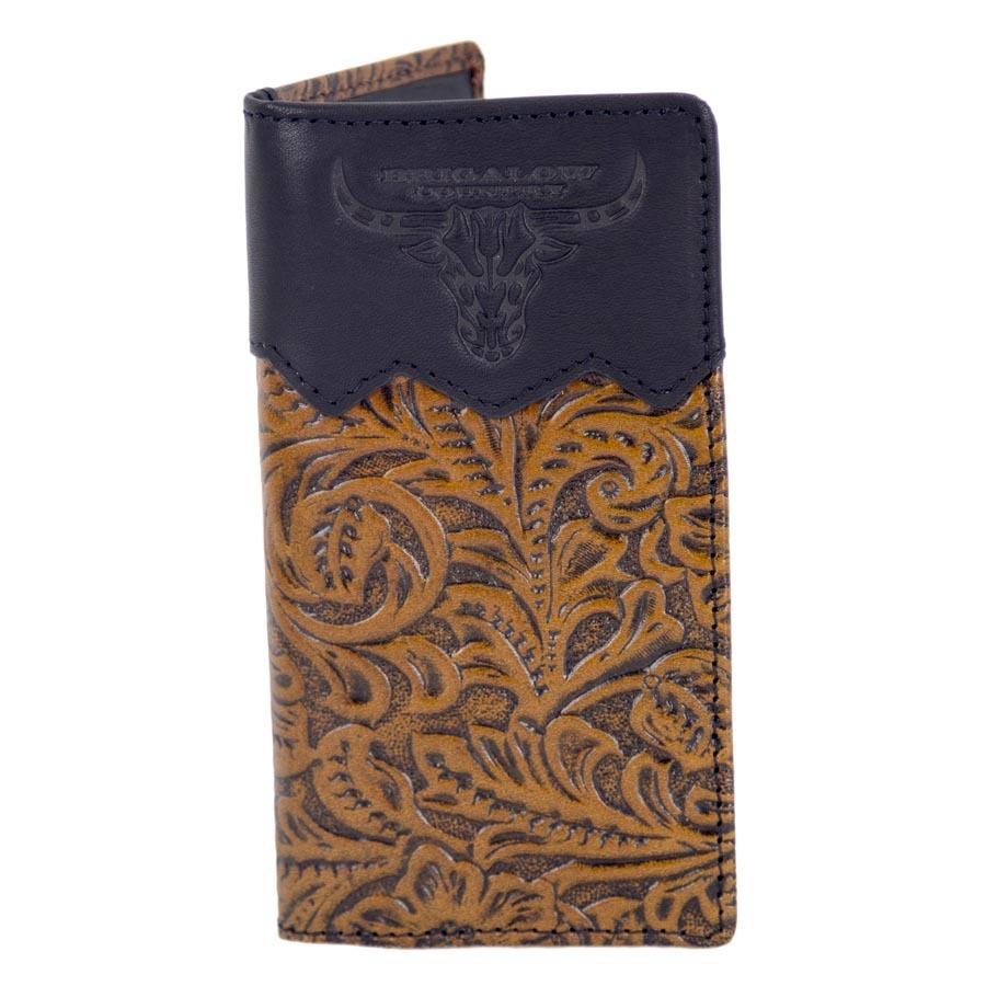 Youth Dark Brown Floral Leather Rodeo Brand - Brigalow Embossed Logo - 5111