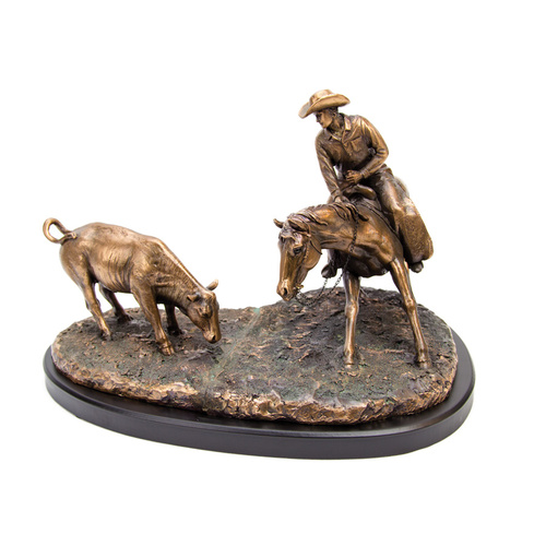 Rodeo Cutter - Large Bronze Resin Statue - 7414