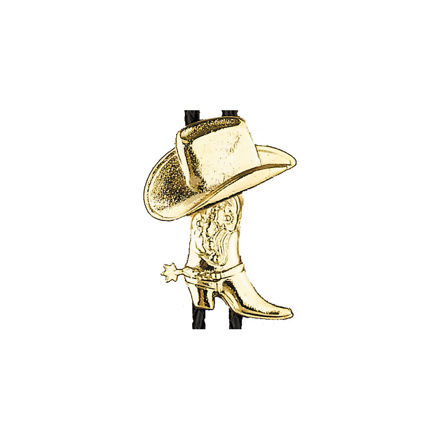 Bolo Tie - Gold Boots and Hats - [Bolo-25]