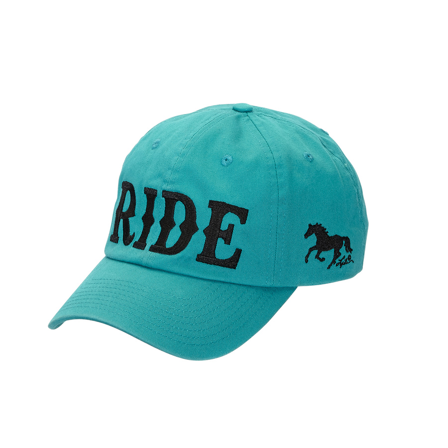 "Tourquoise Cap - ""RIDE"" Embroidered -  (Cap-121TQ)"