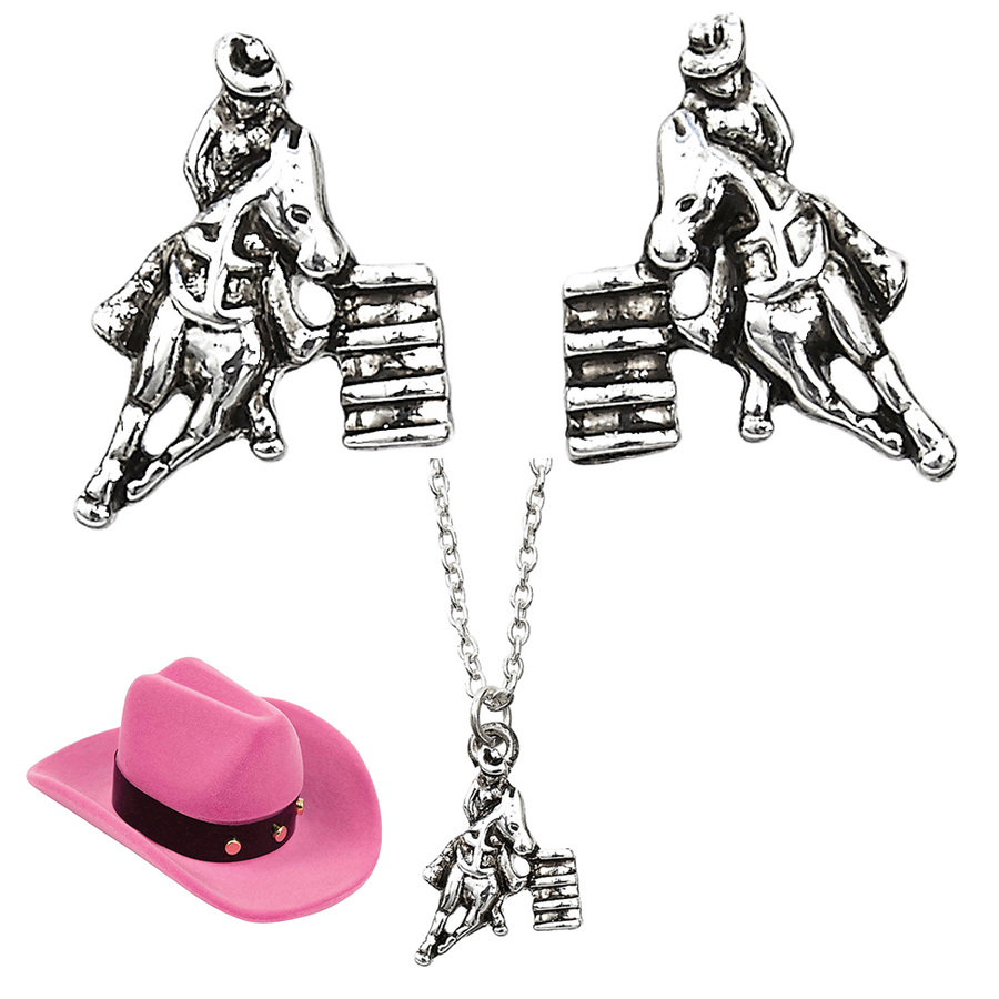 'Barrel Racer' Jewelry Set - Earrings And Necklace - J140