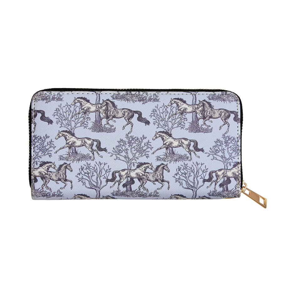 "Cosmetic Pouch  - ""Lila"" Bridles and Things Print - [LW449]"